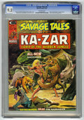 Magazines:Superhero, Savage Tales #6 (Marvel, 1974) CGC NM- 9.2 Off-white pages. Ka-Zarstories begin as regular feature. Brak the Barbarian appe...