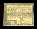 Colonial Notes:Rhode Island, Rhode Island July 2, 1780 $3 Extremely Fine-About New. This noteshould grade New, however, an expertly repaired upper left ...