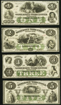 Obsoletes By State:Maryland, Salisbury, MD- Somerset and Worcester Savings Bank $1; $2; $3; $5 Nov. 1, 1862 Choice Crisp Uncirculated.. ... (Total: 4 notes)