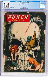Punch Comics #12 (Chesler, 1945) CGC FR/GD 1.5 Cream to off-white pages