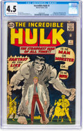 Silver Age (1956-1969):Superhero, The Incredible Hulk #1 (Marvel, 1962) CGC VG+ 4.5 Cream tooff-white pages....