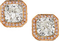 Estate Jewelry:Earrings, Diamond, Colored Diamond, Platinum, Gold Earrings . ...