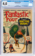 Silver Age (1956-1969):Superhero, Fantastic Four #5 (Marvel, 1962) CGC VG 4.0 Off-white pages....