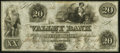 Obsoletes By State:Maryland, Hagerstown, MD- Valley Bank of Maryland $20 Jan. 31, 1855 Crisp Uncirculated.. ...