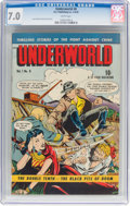 Golden Age (1938-1955):Crime, Underworld #8 (D.S. Publishing, 1949) CGC FN/VF 7.0 White pages....