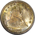 Seated Quarters, 1866 25C Motto MS66 NGC. CAC....