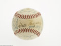 Autographs:Baseballs, 1956 New York Giants Team Signed Baseball. ONL (Giles) ball offers twenty-five strong ink signatures including Mays, Schoen...