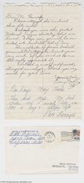 Autographs:Letters, 1966 Dave Bancroft Handwritten Letter. The Hall of Fame shortstopanswers an autograph request for a young autograph collec...