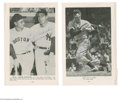 Autographs:Photos, Joe DiMaggio Signed Magazine Photographs Lot of 2. Pair of pagesfeaturing black and white images from magazine measure 6x9...