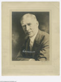 """Autographs:Photos, Connie Mack Signed Photograph. Large 11x14"""" mounted studio portraitis signed by Mack in 9/10 white ink. Mount shows some ..."""
