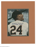"Autographs:Photos, Willie Mays Signed Magazine Photograph. Perfect blue sharpiesignature on a 7x9"" color photographic image clipped from a ma..."