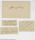 Autographs:Post Cards, Circa 1949 Boston Red Sox Autograph Lot of 4 with Williams. Perfectink signatures were sent in reply to a young autograph ...