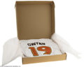 Autographs:Jerseys, Tony Gwynn Signed UDA Jersey. Perfect replica of Gwynn's 1984 WorldSeries jersey is signed in 10/10 black sharpie. Number...