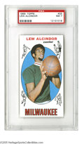 Basketball Cards:Singles (Pre-1970), 1969 Topps Lew Alcindor #25 PSA NM 7. High-grade example of thisimportant Kareem rookie....