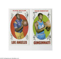 Basketball Cards:Lots, 1969-70 Topps Basketball Lot of 2. Includes #35 Elgin Baylor and 50Oscar Robertson (NM)....