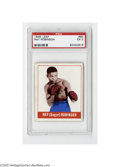 Boxing Cards, 1948 Leaf Ray Robinson #64 PSA EX 5. Strong example from this popular set....