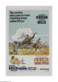 """Movie Posters:Adventure, Africa - Texas Style! (Paramount, 1967) One Sheet (27"""" X 41""""). Thisis a vintage, theater used poster for this African weste..."""