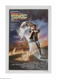 "Back to the Future (Universal, 1985) One Sheet (27"" X 41""). This is a vintage, theater used poster for this sc..."