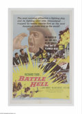 """Movie Posters:War, Battle Hell (DCA, 1957) One Sheet (27"""" X 41""""). This is a vintage,theater used poster for this war drama that was directed b..."""