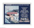 """Movie Posters:War, Midway (Universal, 1976) Half Sheet (22"""" X 28""""). This is a vintage,theater used poster for this World War II battle drama t..."""