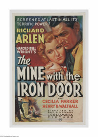 "The Mine With the Iron Door (Columbia, 1936) One Sheet (27"" X 41""). This is a vintage, theater used poster for..."
