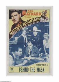 "Mystery Mountain (Mascot, 1934) One Sheet (27"" X 41""). This is a vintage, theater used poster for this western..."