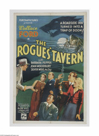"The Rogues Tavern (Puritan Pictures, 1936) One Sheet (27"" X 41""). This is a vintage, theater used poster for t..."