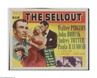 "The Sell-Out (MGM, 1952) Half Sheet (22"" X 28""). This is a vintage, theater used poster for this drama that wa..."