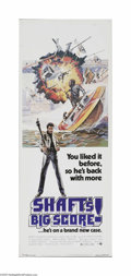 "Movie Posters:Blaxploitation, Shaft's Big Score! (MGM, 1972) Insert (14"" X 36""). This is avintage, theater used poster for this action sequel to the hit ..."