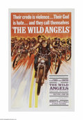"Movie Posters:Action, The Wild Angels (AIP, 1966) One Sheet (27"" X 41""). This is avintage, theater used poster for this motorcycle gang picture, ..."