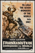 """Movie Posters:Horror, Frankenstein Conquers the World (American International, 1966). OneSheet (27"""" X 41""""). Horror...."""