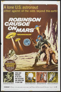 "Movie Posters:Science Fiction, Robinson Crusoe On Mars (Paramount, 1964). One Sheet (27"" X 41"").Science Fiction...."