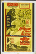 "Movie Posters:Horror, The Horror of Party Beach/The Curse of the Living Corpse Combo (20th Century Fox, 1964). One Sheet (27"" X 41""). Horror...."
