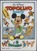 "Movie Posters:Animated, The Mickey Mouse Story (Universal, 1970). Italian 4 - Folio (55"" X 78""). Animated...."