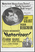 "Movie Posters:Hitchcock, Notorious (RKO, R-1960s). One Sheet (27"" X 41""). Hitchcock...."
