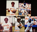 Autographs:Photos, Eddie Murray Signed Photograph Lot of 5.... (Total: 5 items)