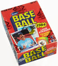 Baseball Cards:Unopened Packs/Display Boxes, 1984 Fleer Baseball Wax Box With 36 Unopened Packs. ...