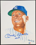 "Autographs:Others, Signed Ron Lewis ""Living Legends"" Mickey Mantle. ..."