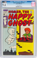 Bronze Age (1970-1979):Humor, Homer, the Happy Ghost V2#3 (Marvel, 1970) CGC NM+ 9.6 Off-white to white pages....