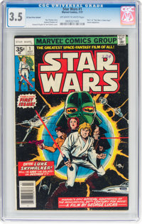 Star Wars #1 35¢ Price Variant (Marvel, 1977) CGC VG- 3.5 Off-white to white pages
