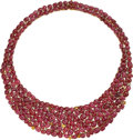 Estate Jewelry:Necklaces, Ruby, Colored Diamond, Diamond, Gold Necklace . ...