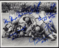 "Autographs:Photos, Green Bay Packers ""Ice Bowl"" Multi-Signed Photograph (10Signatures)...."