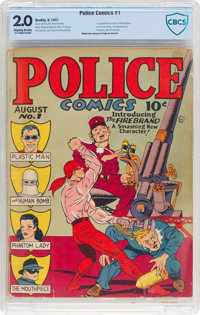 Police Comics #1 (Quality, 1941) CBCS GD 2.0 Slightly brittle pages