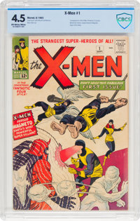 X-Men #1 (Marvel, 1963) CBCS VG+ 4.5 Off-white to white pages