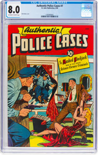Authentic Police Cases #7 (St. John, 1950) CGC VF 8.0 Off-white to white pages