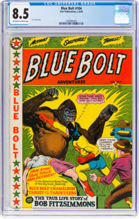 Blue Bolt #104 (Star Publications, 1950) CGC VF+ 8.5 Off-white to white pages