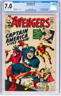 Silver Age (1956-1969):Superhero, The Avengers #4 (Marvel, 1964) CGC FN/VF 7.0 Off-white to whitepages....