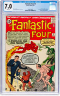 Silver Age (1956-1969):Superhero, Fantastic Four #6 (Marvel, 1962) CGC FN/VF 7.0 White pages....