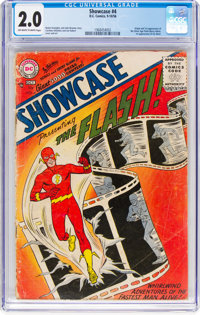 Showcase #4 The Flash (DC, 1956) CGC GD 2.0 Off-white to white pages
