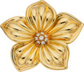 Estate Jewelry:Brooches - Pins, Diamond, Gold Brooch, Van Cleef & Arpels. ...